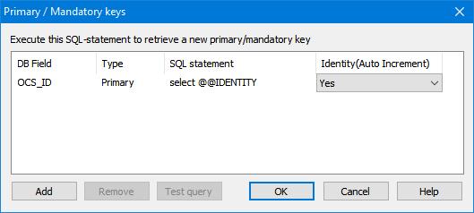 Primary and Mandatory keys
