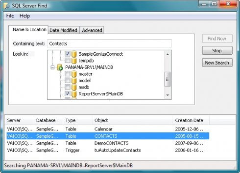 SQLServerFind 3.4.3.2R2 Screen shot